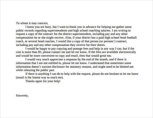 request letter sample 007