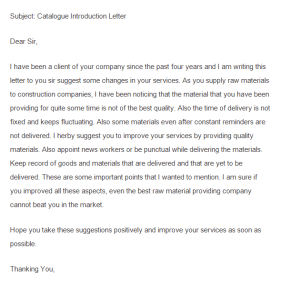 suggestion letter sample