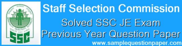 Solved SSC JE Previous Year Question Papers PDF
