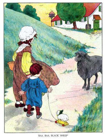 Baa-Baa Black Sheep Illustration
