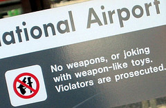 Warning Sign at Dulles Airport