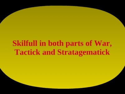 Tactick and Strategematick