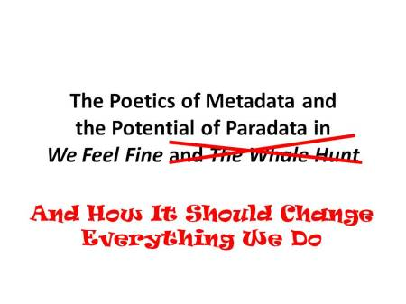 New Title for the Poetics of Metadata