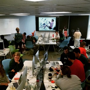 Digital Studies and Digital Art students at Davidson making cyborg interfaces.