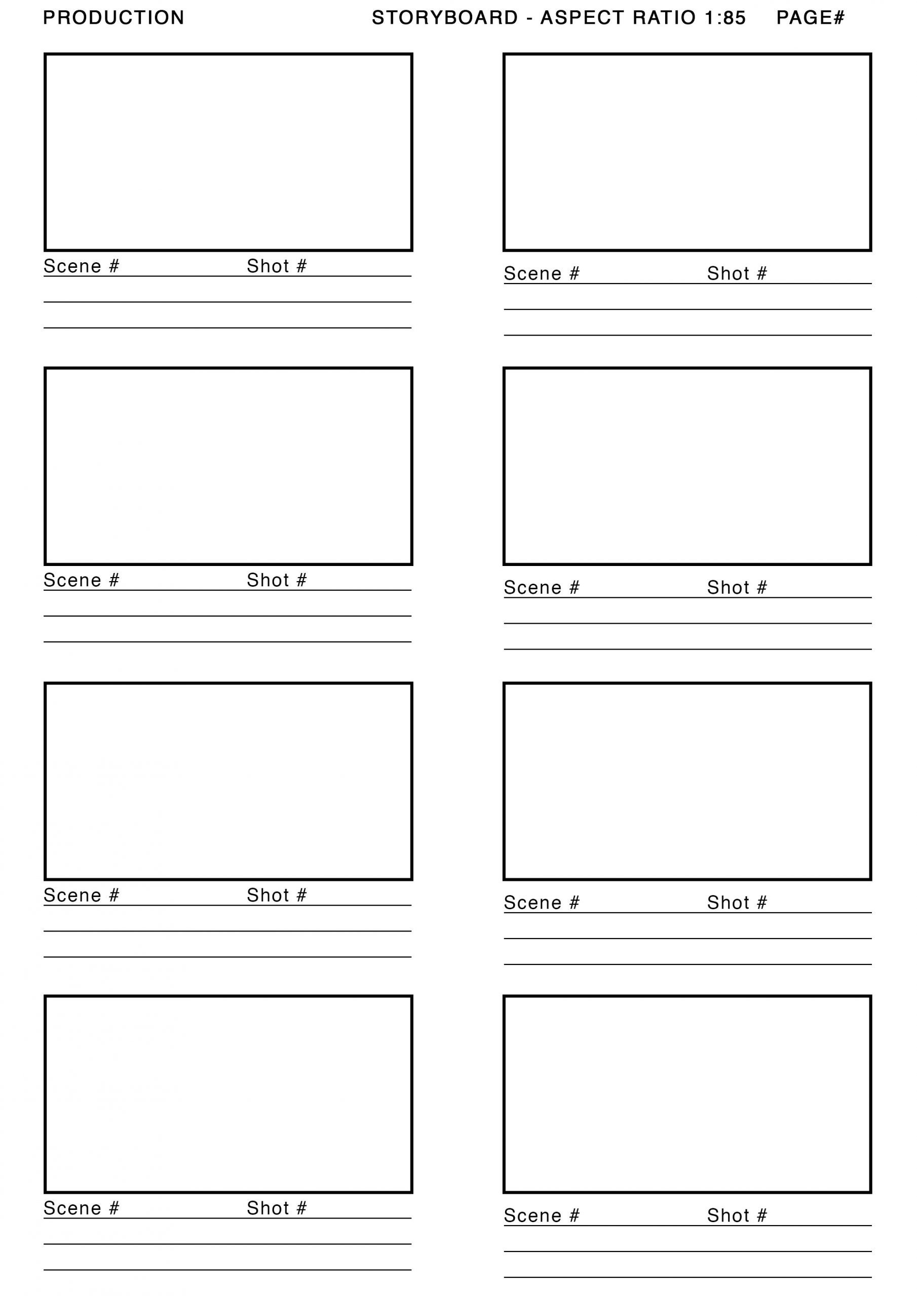 Storyboard Template Scaled Doc Printable