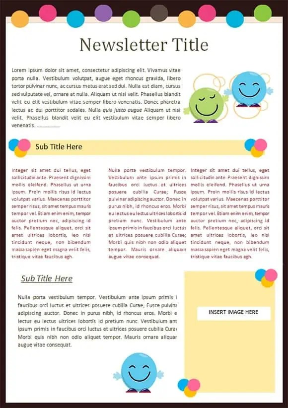 Kindergarten Newsletter Templates  Free Formats Excel Word