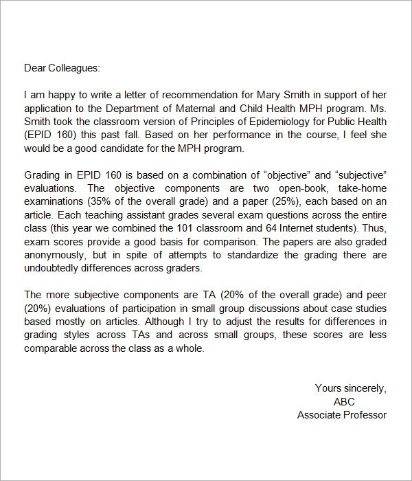 High School Recommendation Letter Template Image Gallery  Hcpr