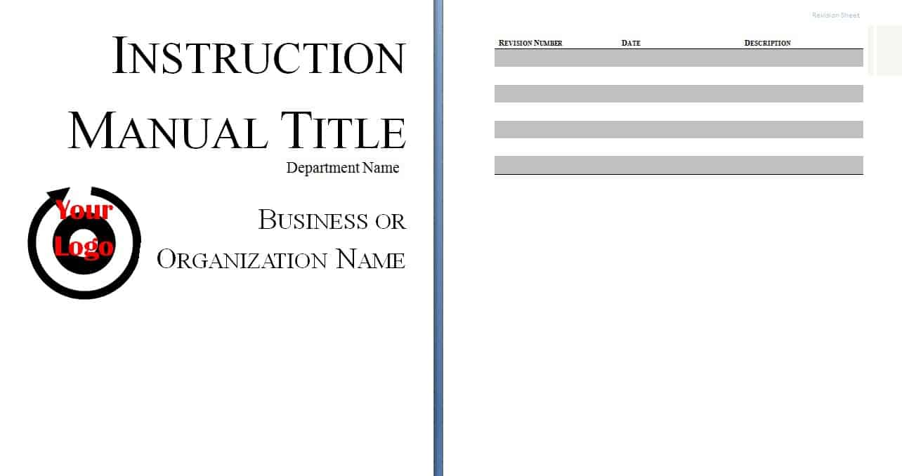 Free Sample Templates  Instruction Booklet Template