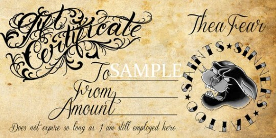 6 Tattoo Gift Certificate Templates | Free Sample Templates