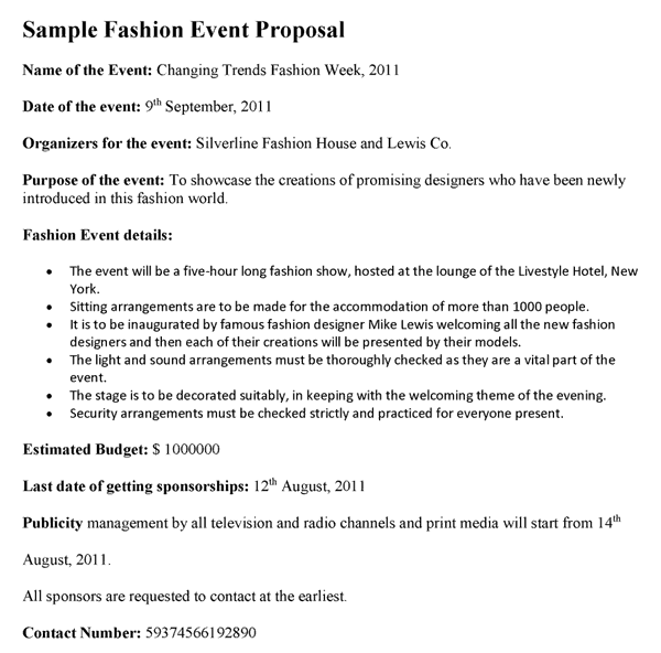 Event Proposal Template 333  Event Proposal