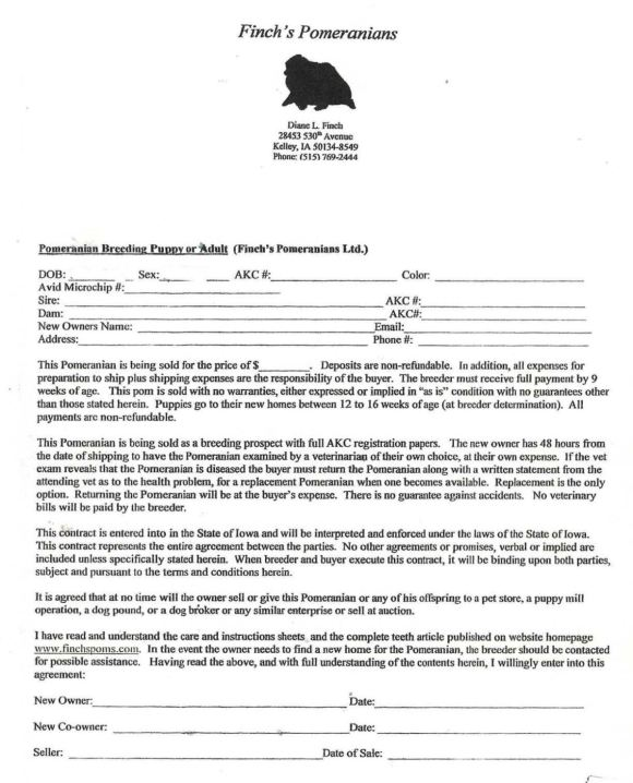 Dog Breeding Contract Template - SampleTemplatess ...