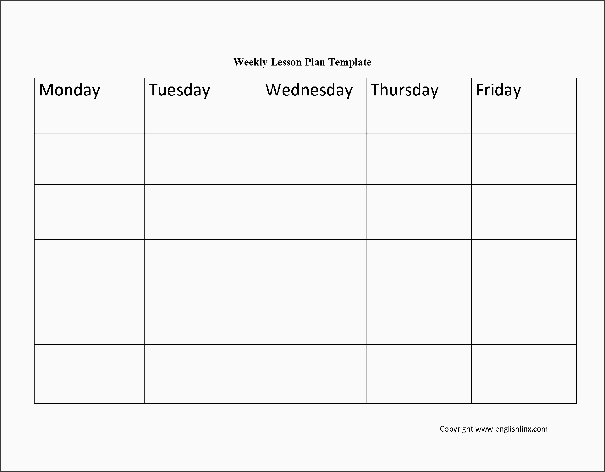10 Academic Lesson Planner Template