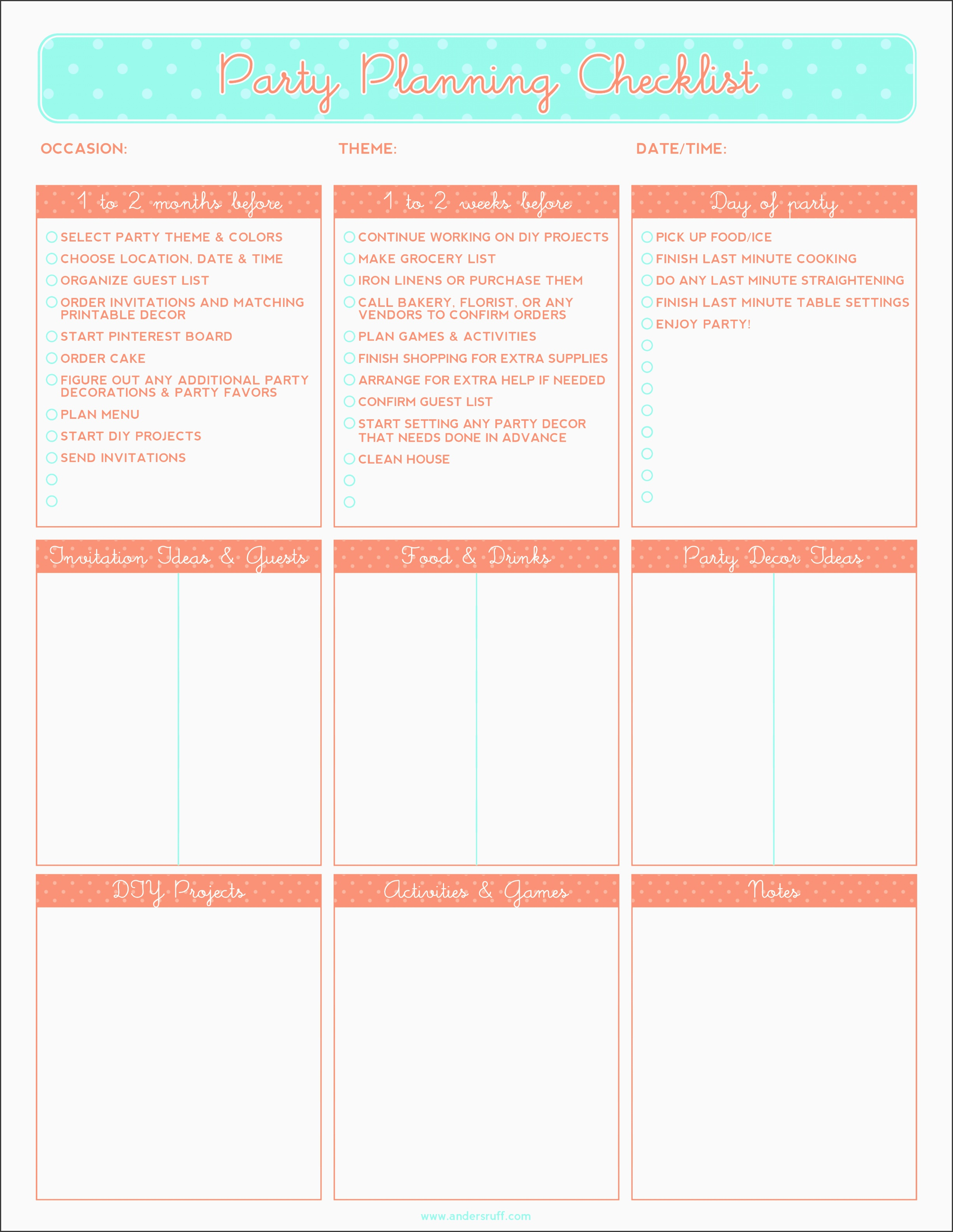 10 Baby Shower Planner Outline