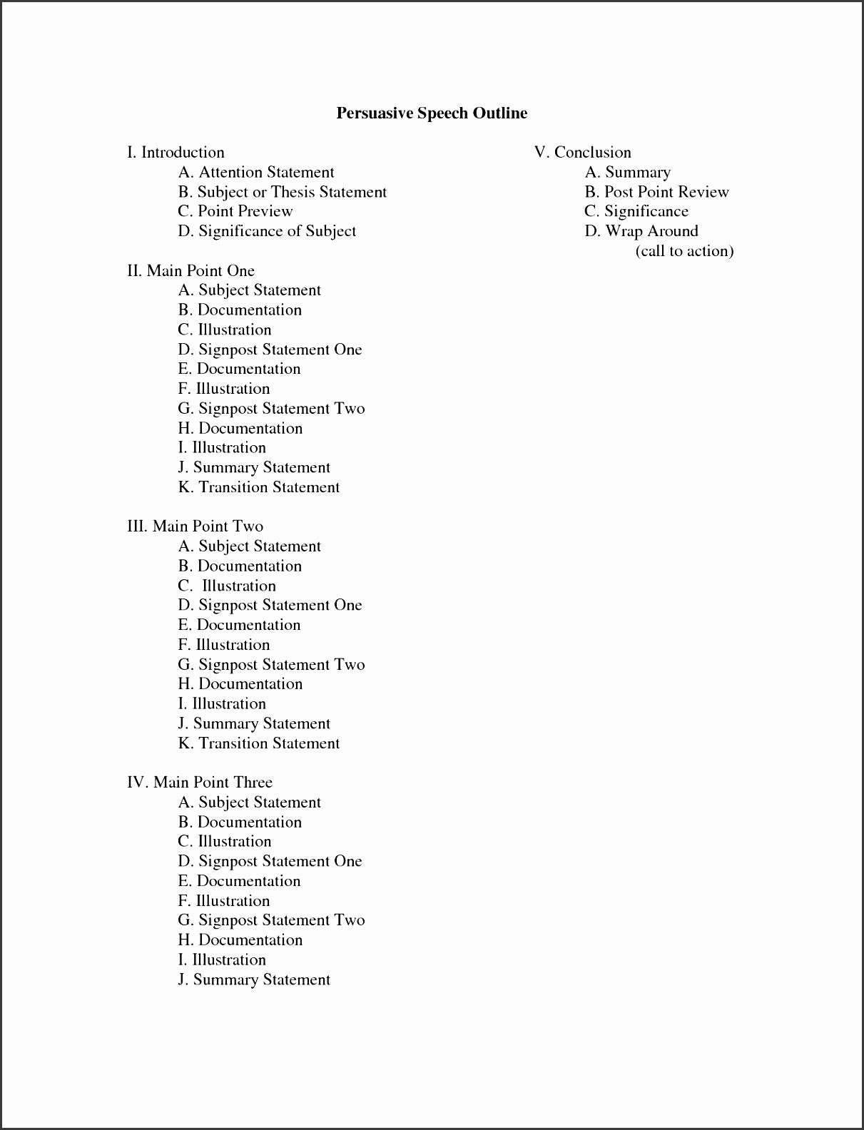 8 Blank Essay Outline Template Sampletemplatess