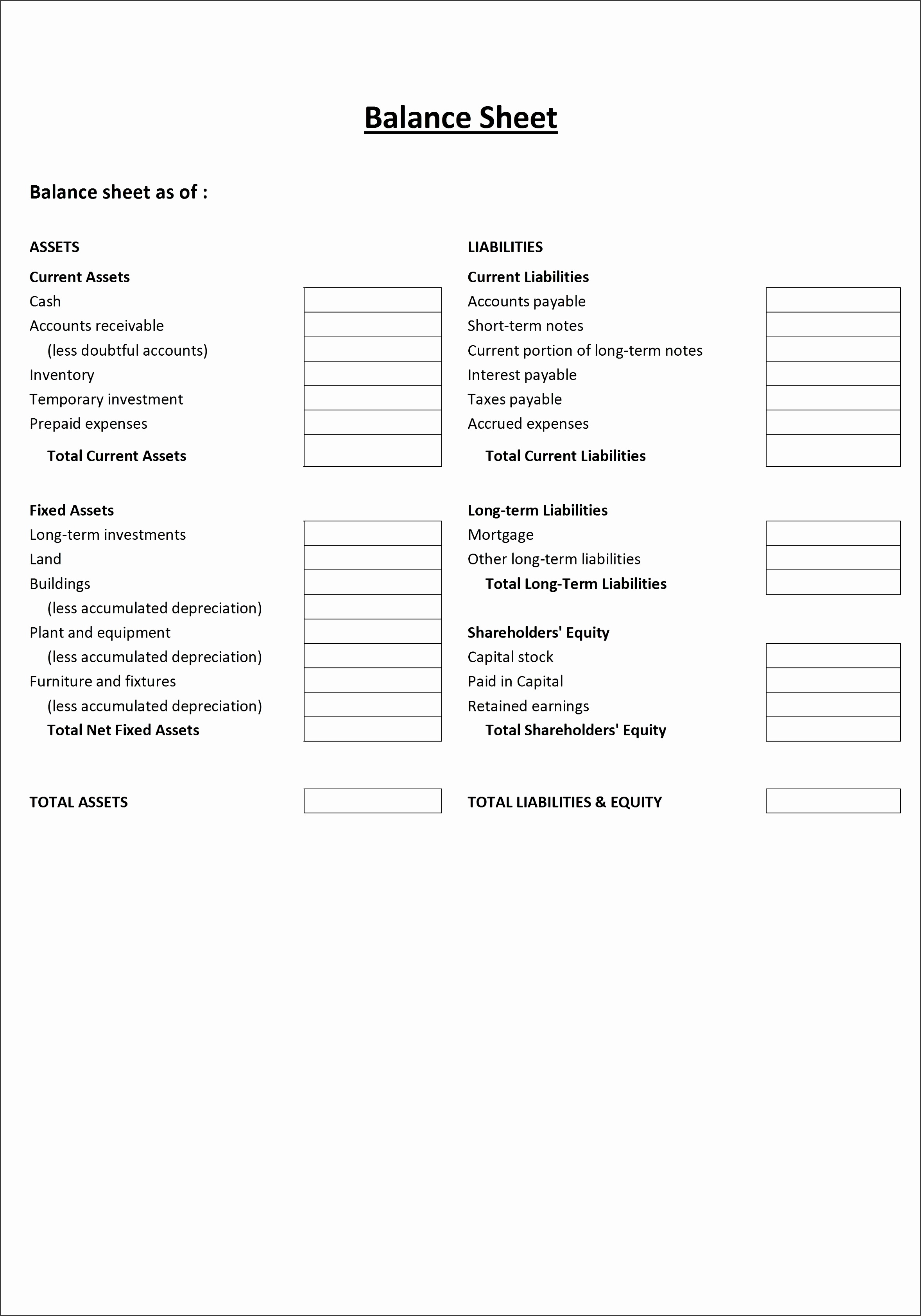 5 Business Income Statement Template