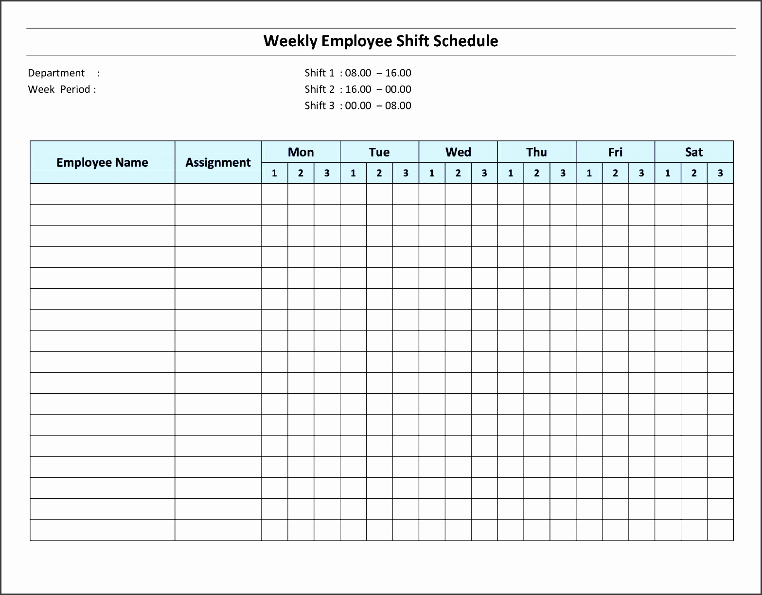 8 Daily Schedule Template For Employees