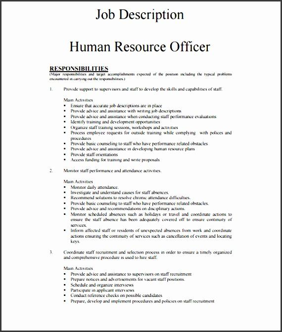 7 Employee Job Description Template SampleTemplatess