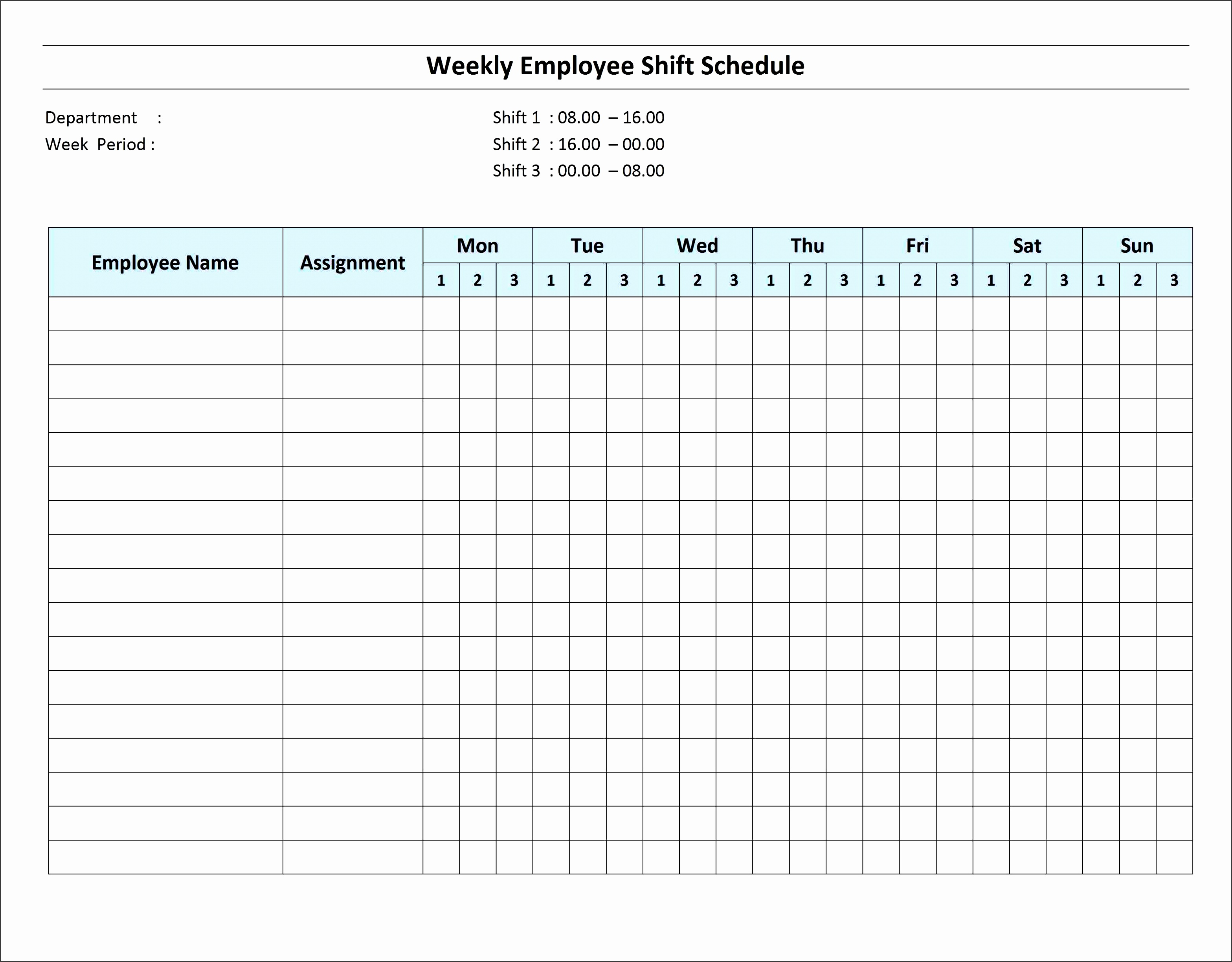 6 Excel Daily Work Schedule