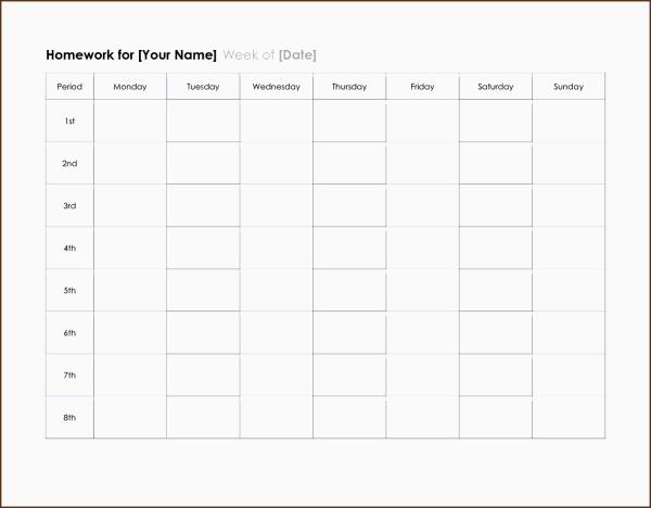 10 One Week Planner Template SampleTemplatess