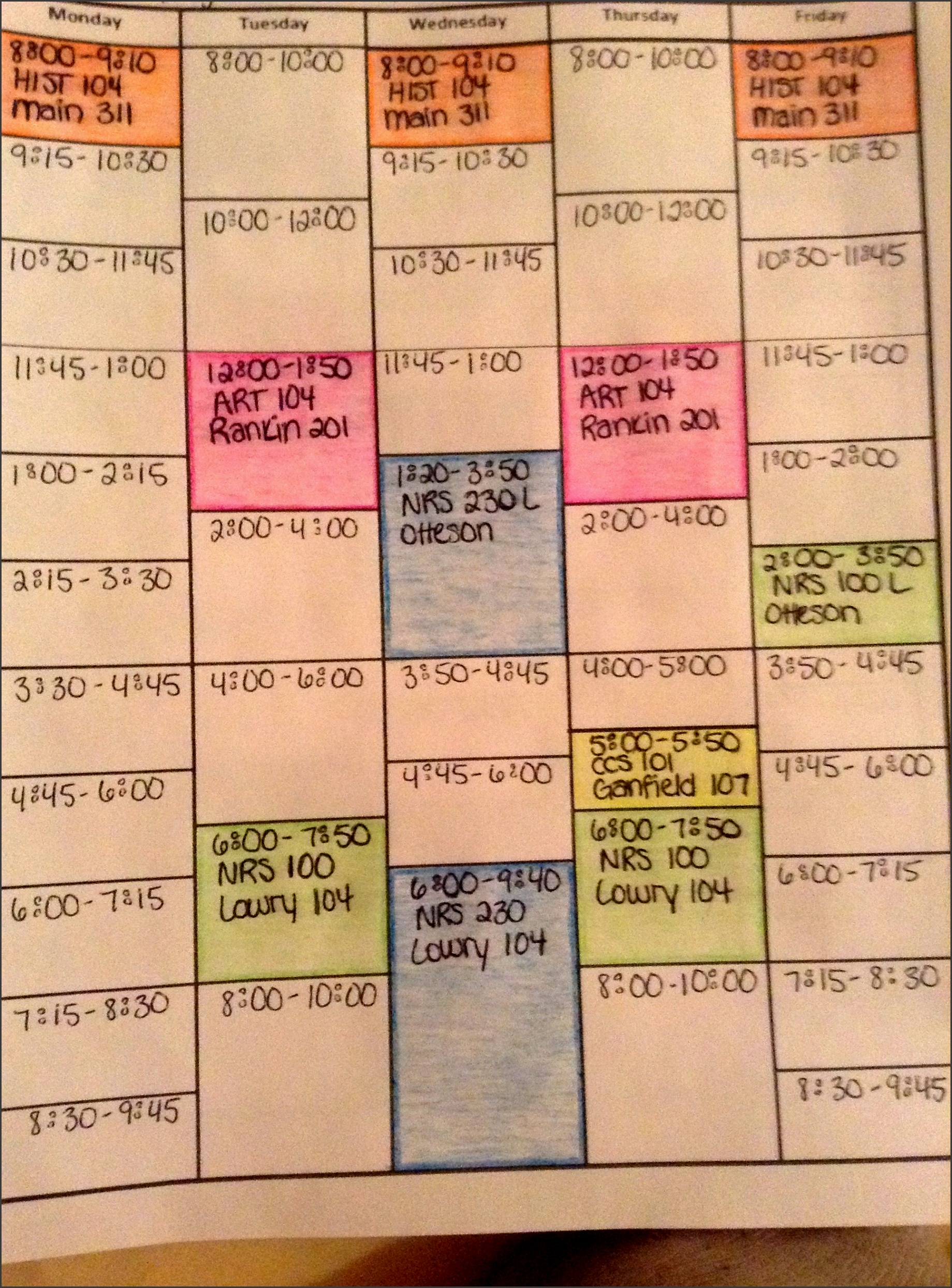 8 Online College Year Planner Free Of Cost