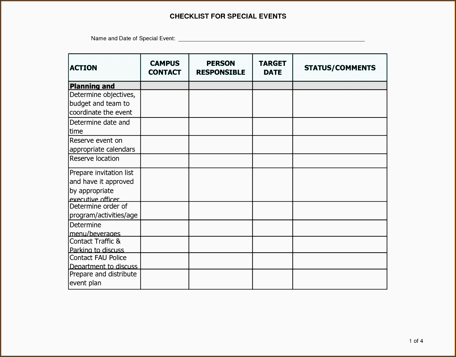 7 Party Planning Checklist Printable