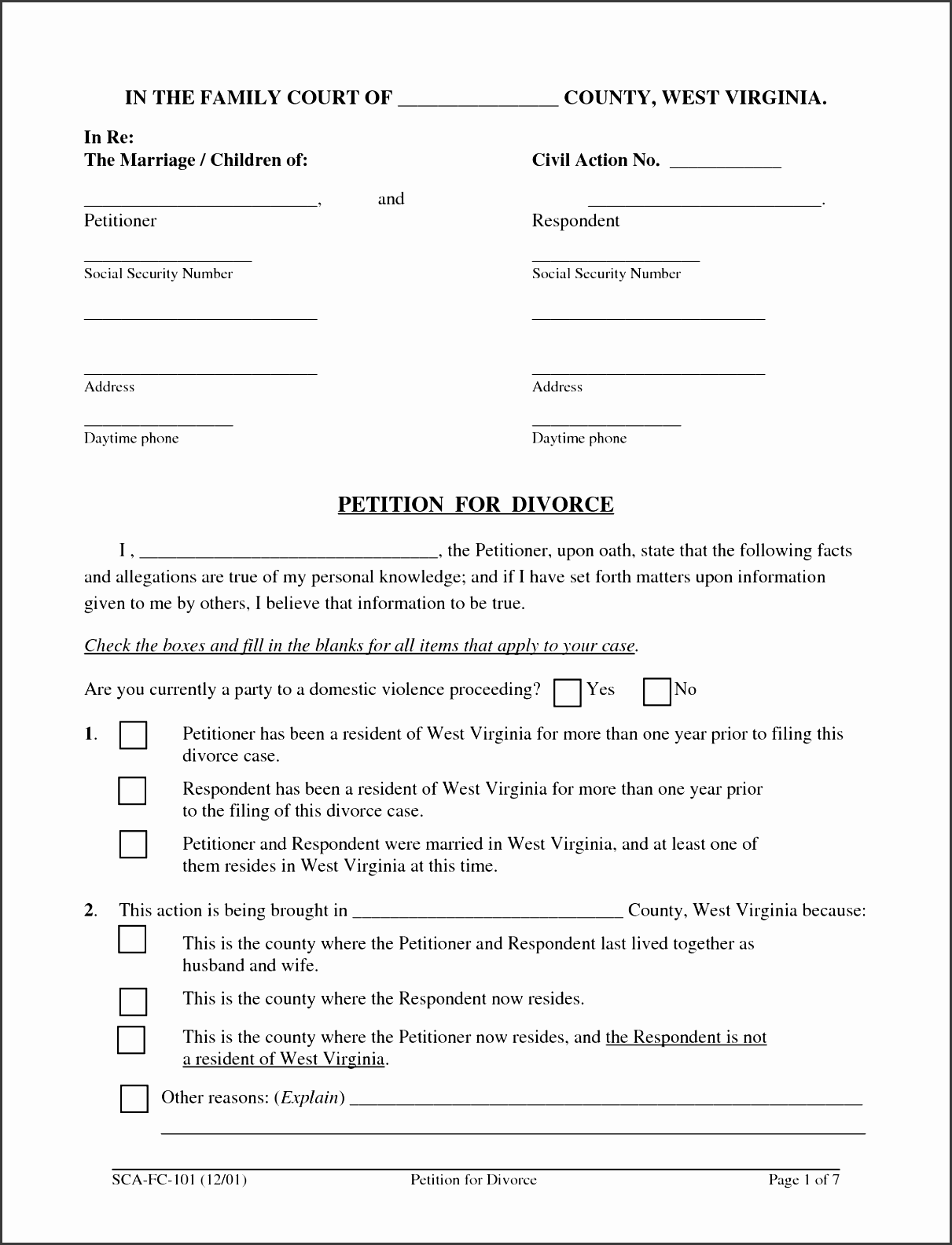 10 Petition Template Free Of Cost