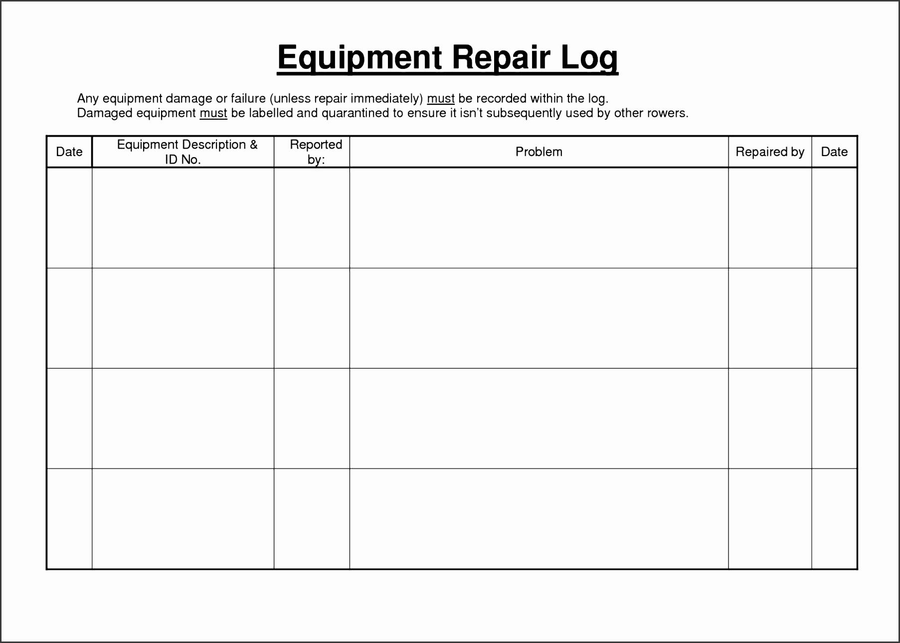 6 Sample Vehicle Mileage Log
