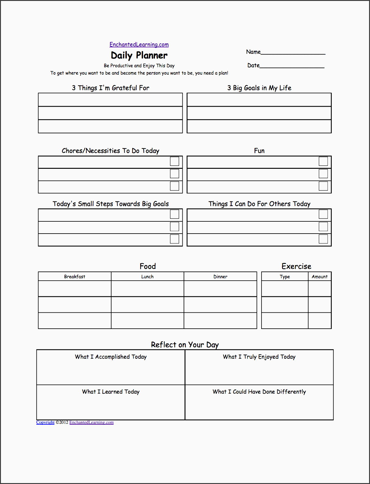 10 Student Daily Planner Template