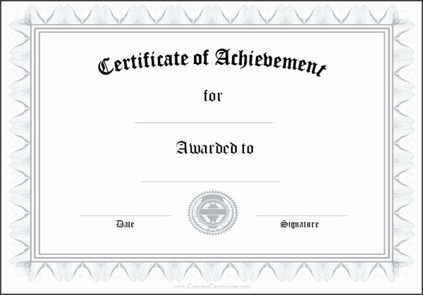 8 Printable Blank Certificates - SampleTemplatess ...