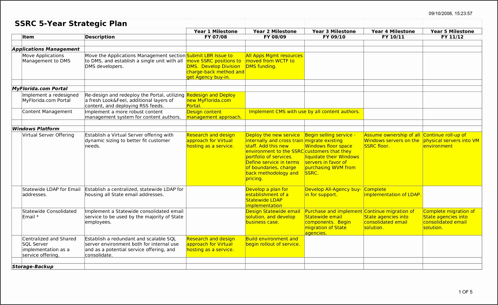 9 5 Year Career Plan Template