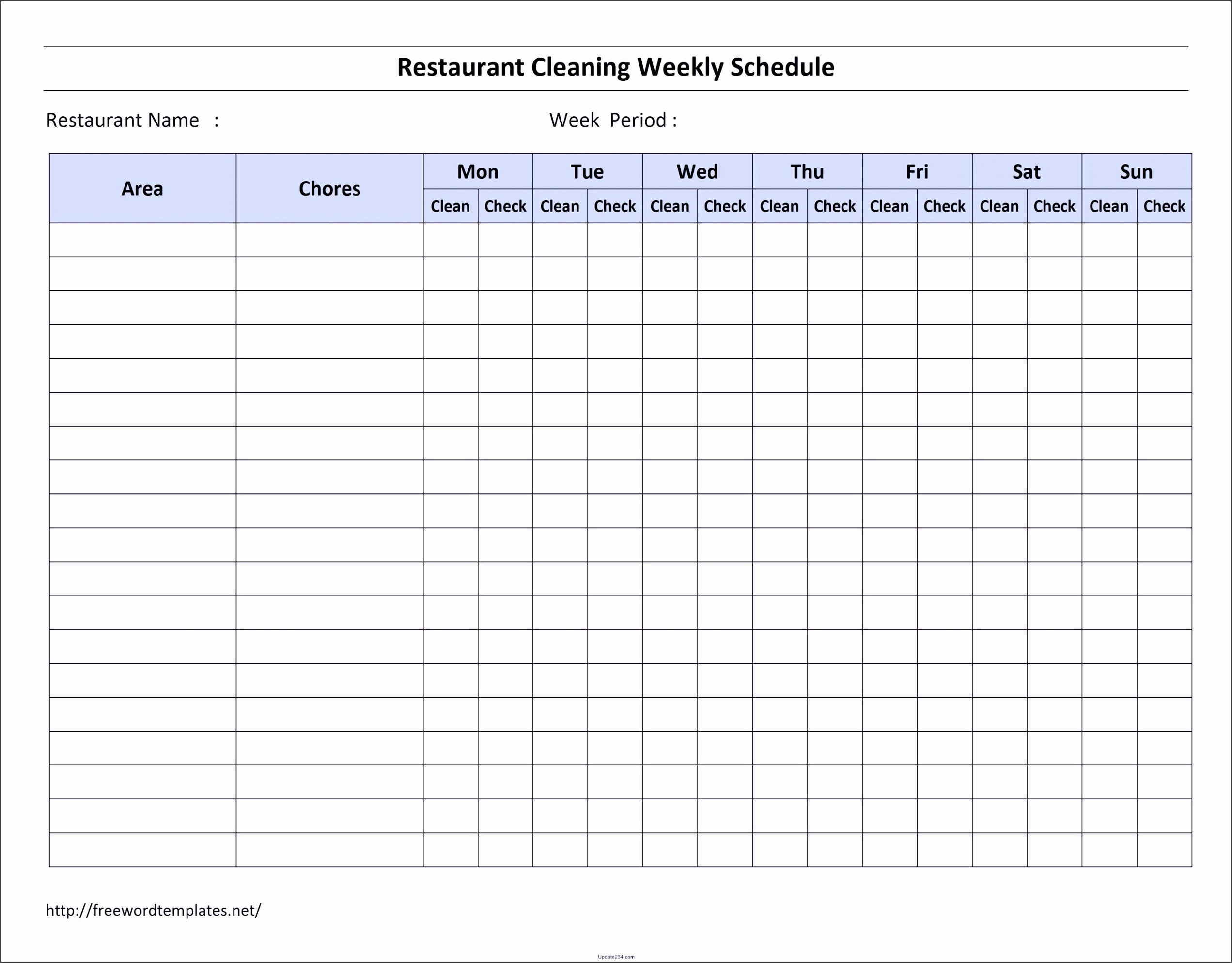 5 Residential Cleaning Checklist Template