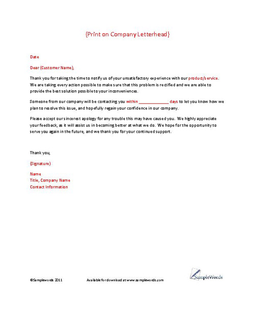 customer response letter templates - custom essay order court cover letter