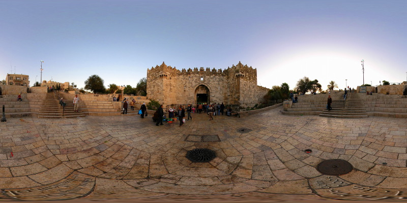Damascus Gate :: Jerusalem  :: 360° Panorama