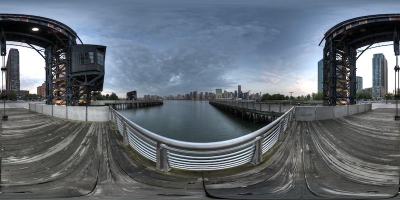 Gantry Plaza - Morning  :: 360° Panorama