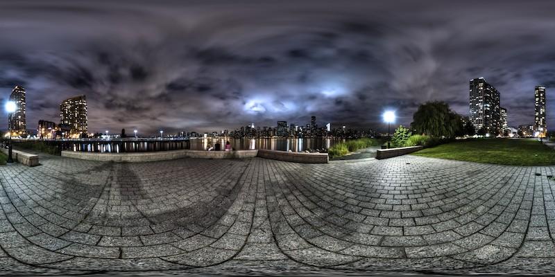 Gantry Plaza - Night  :: 360° Panorama