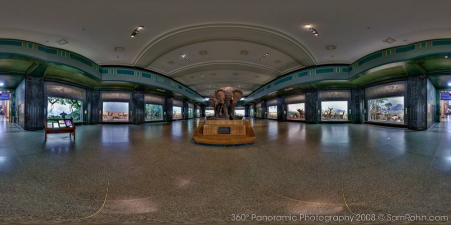Akeley Hall of African Mammals :: Museum of Natural History :: NYC  :: 360° Panorama