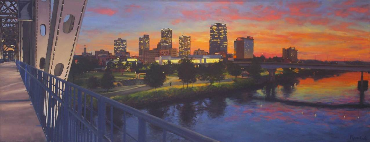 Little Rock Sunset, 42 X 108, Sold