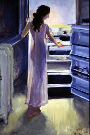 Midnight Snack, 38 X 26, Sold