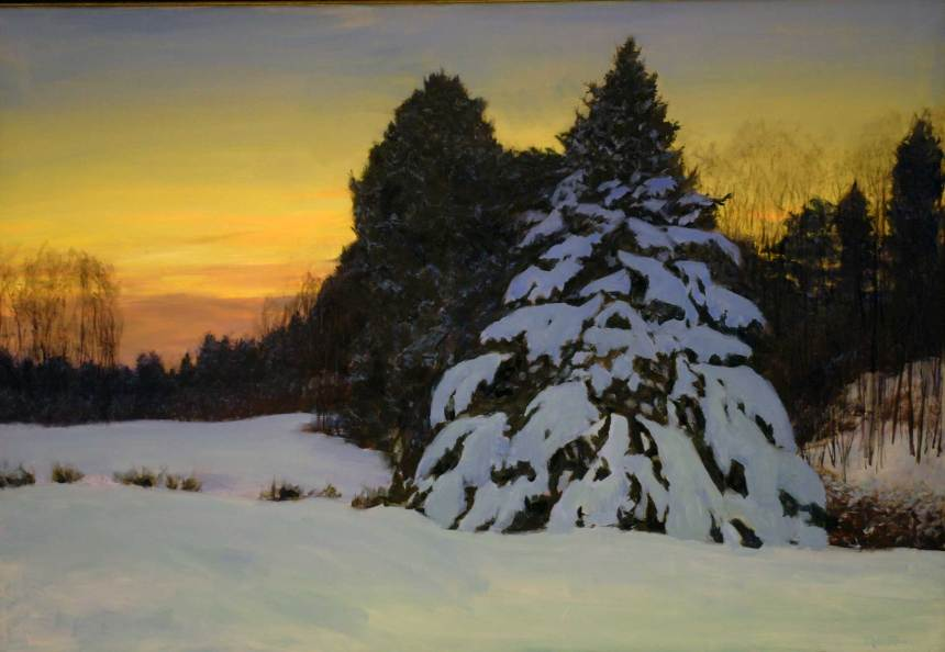 Pines at Sunset, 48 X 72