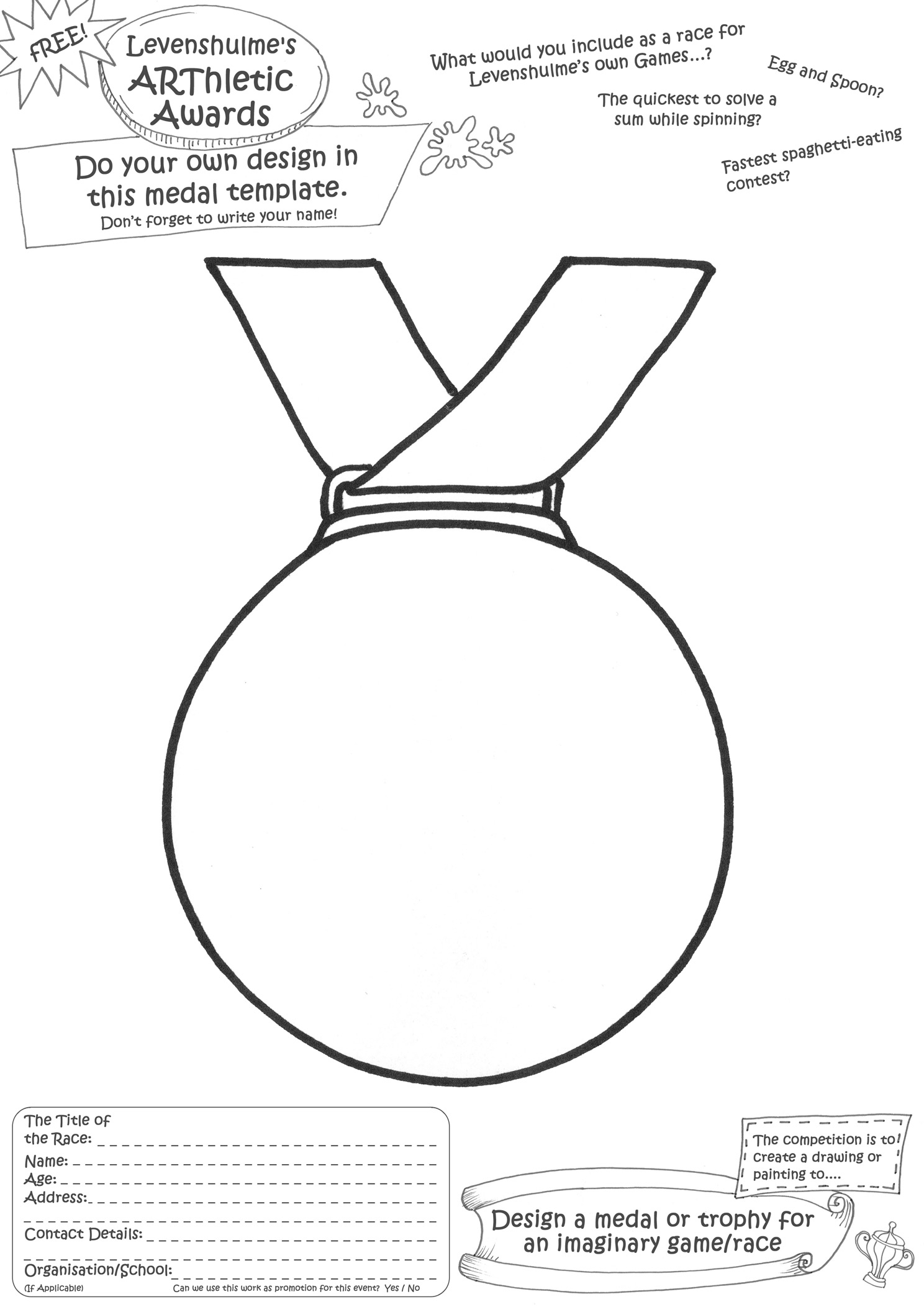 Pin Medal Template