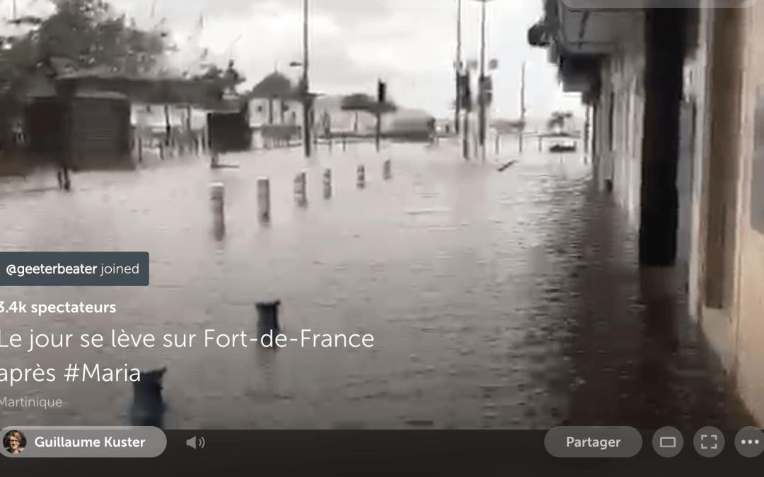 Filmer un ouragan en live avec smartphone et autres infos [podcast]