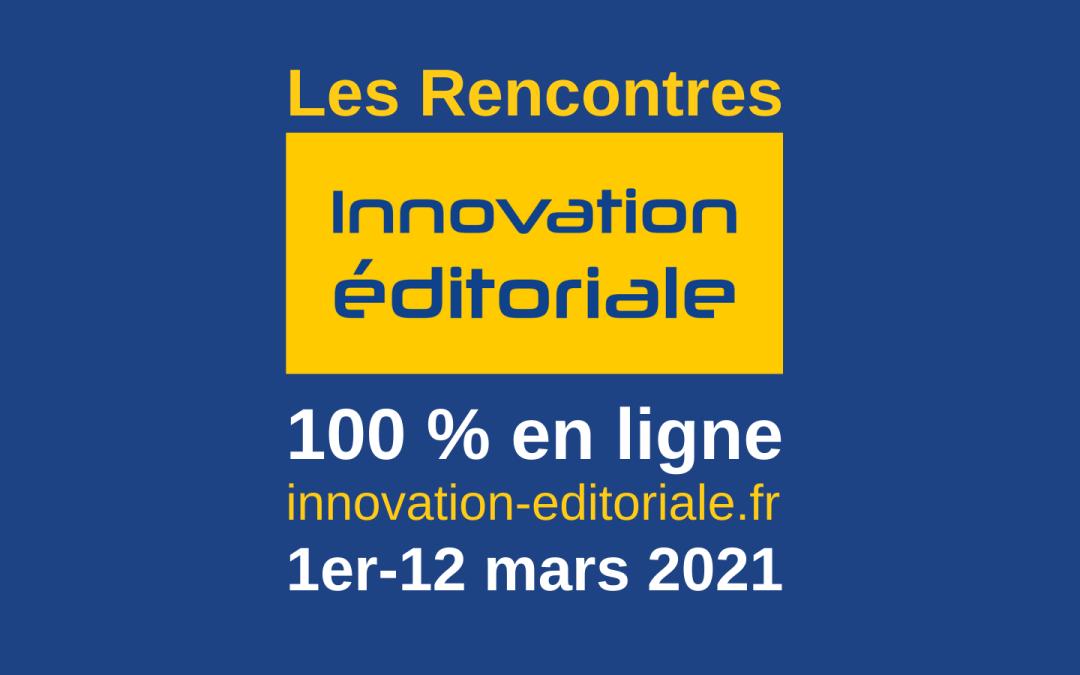 Le programme des Rencontres de l'innovation éditoriale
