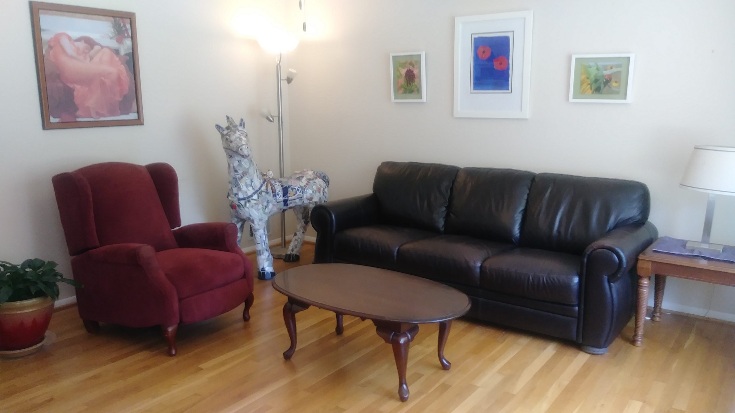 Walk into spacious and bright living room