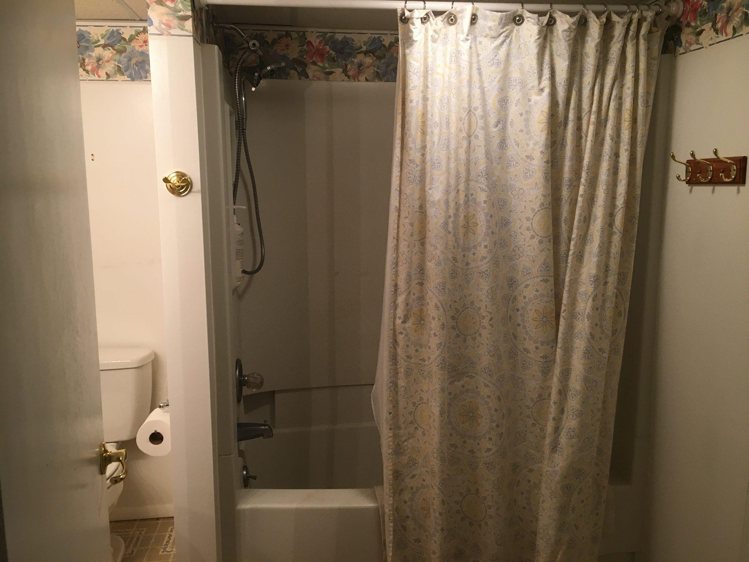 Second full bathroom at garden level