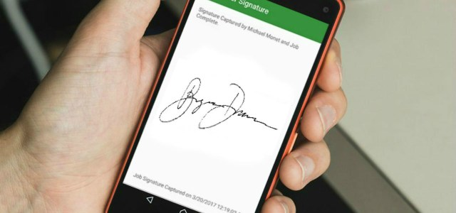 Mobile EForm Signature