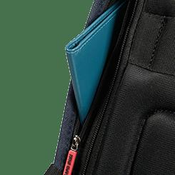 2 bolsillos escondidos, uno equipado con protección RFID para asegurar tus tarjetas de crédito.