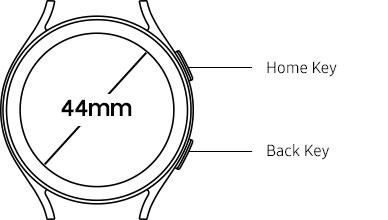 44mm Galaxy Watch4 button position information