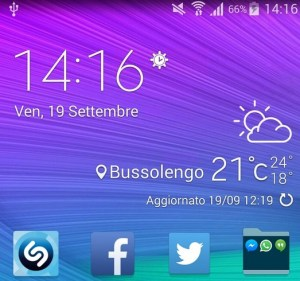 Samsung Galaxy S6 widget