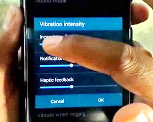 vibration intensity on samsung galaxy s6