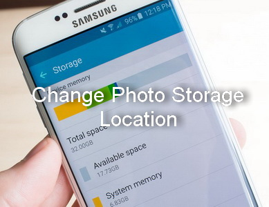change photo storage location on samsung galaxy s6